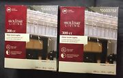 2 Boxes 300 Ct Clear Icicle Lights Christmas Wedding White Wire 17.7 Ft Lighted