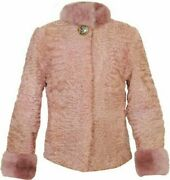 Womenand039s Baby Pink Real Persian Lamb Fur Coat All Sizes