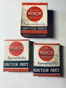 3 Different Niehoff Ignition System Parts Vintage Nos Brush Point Sets More