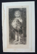 Art Print - Them Two Gluttons By Dieffenach - Original 1880 Rare 140 Years Old