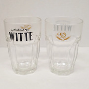 Ommegang Witte Wheat Beer Glass Set Of 2