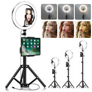 Led Selfie Ring Light With Tripod Standandcell Phone Holder For Makeup Live Stream