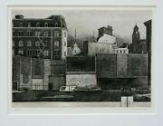 Armin Landeck 12th Street Walls Drypoint Engraving Pencil Signed Dated 1978 K128