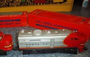Lionel Train No 218p+218t With Boxes Santa Fe Engine And Tender