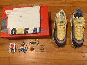Nike Air Max 1/97 Sean Wotherspoon Size 9 Set With Tshirt And Pin Deadstock