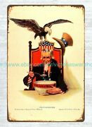 Home Accents Uncle Sam 1917 Cream Of Wheat Ad Metal Tin Sign
