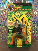 Operation Battle Fire 6 Wind-up Crawling Action Army Soldier 3 Piece Nib Toy