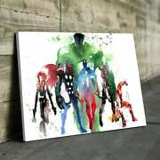 Marvel Super Heroes Wall Art Print On Canvas- Framed-ready To Hang- Various Size