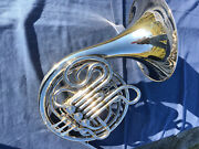 Eastman Double French Horn Fh400n Nickel Plated F/bb Used Good Conditionandnbsp
