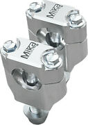 Mika Metals 205-6001s Rubber Mounted Clamps Silver 1-1/8