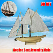 187scale Diy Wooden Sailing Ship Boat Assembly Model Kits Ship Home Office Toy