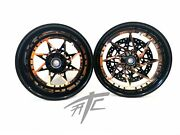Yzf 330 Fat Tire Black And Copper Switchback Wheels 2004-2008 Yamaha Yzf R1 R6