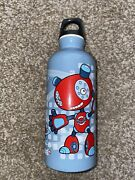 Sigg Swiss Made Steel Water Bottle Blue Robot And Planets 16 Oz