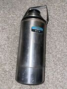 1974 Thermos No. 2466 Two Quart Stainless Steel Vacuum Bottle Thermos Vintage