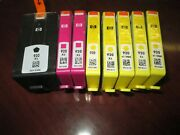 Lot Of 8 X New Genuine Hp 920xl 920 Black And Colors C/m/ Y Ink Cartridges