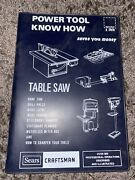 Sears Craftsman Power Tool Know How Table Saw Manual 1980 Catalog No. 9-2918