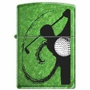 Zippo Lighter Golf Meadow Green Colored Case Discontinued Mint In Box
