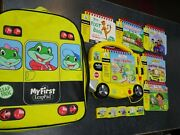 2004 My First Leap Pad Learning System W/books Cartridges And Zippered Backpack