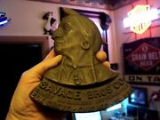 Early Rare Antique Advertising Savage Bros Solid Copper Emblem Sign