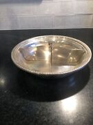 Redlich And Co Divided Sterling Silver Bowl/serving Dish - Rare Discontinued