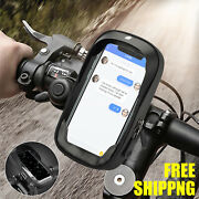 Motorcycle Bicycle Front Tube 360anddeg Mount Phone Holder Case Touch Bag Waterproof