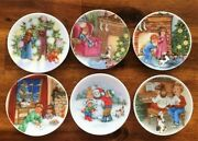 Hallmark 1987-1992 Collector's Plate Ornaments Set Of 6