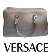 Versace Collection Authentic Womens Shoulder Bag Big Brown Made In Italy 2975