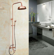 Antique Copper Bathroom Shower Set Bathtub Faucet Wall Mounted With Handshower