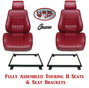 Standard Touring Ii Fully Assembled Seats And Brackets 1980-81 Camaro - Any Color