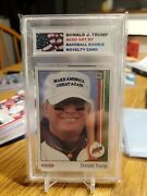 President Donald Trump Aceo Novelty 1989 Ud Style Rookie Card Graded Gem 10