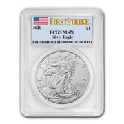 2021 American Silver Eagle Ms-70 Pcgs Firststrikeandreg - Sku221555