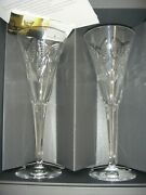 Waterford Crystal The Millennium Collection Toasting Flutes. One Pair.