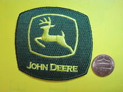 John Deere Farm Tractor Patch Cloth Small Iron -or- Sew On Caps Shirts Jackets