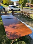 Duncan Phyfe Style 1930and039s Table And Chairs