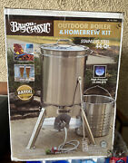 Bayou Classic Outdoor Broiler And Homebrew Kit 44 Quart Stainless Steel 58,000 Btu
