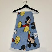 Vintage Walt Disney Relaxed Mickey Mouse Full Size Sheet See Pictures For Size