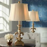 Traditional Table Lamps Set Of 2 Antique Gold For Living Room Bedroom Nightstand