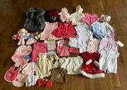 Big Lot Of Baby Girls Clothes Accessories Toys Newborn 0-3 Months To 12 Months