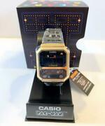 Casio Pac-man Collabo Watch Gold And Black Limited A100wepc-1bjr Game Collection N