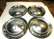 1952 Ford Vintage Factory Original Chrome Hubcap Wheel Covers Lot Of 4 Used