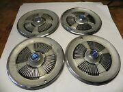 1965 Ford Vintage Factory Original Oem 15-inch Hubcap Wheel Cover Lot Of 4 Used
