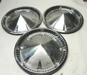 1959 Plymouth 14-inch Hubcap Wheel Covers Vintage Factory Oem Lot Of 3 Used