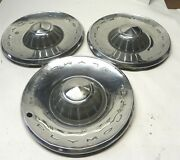 1962 Plymouth 14-inch Hubcap Wheel Covers Lot Of 3 Vintage Factory Oem Used