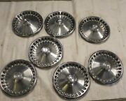 1970-71-72 Plymouth 14-inch Hubcap Wheel Cover Vintage Original Lot Of 7 Used