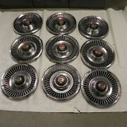 1967-68 Dodge Vintage Factory Oem 14-inch Hubcap Wheel Covers Sold As A Lot Of 9
