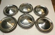 1960-61-62-63-64 Ford Falcon Vintage Oem 9 1/2 Stainless Poverty Hubcaps