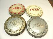 1961-62-63-64-65-66 Ford 1/2 Ton Truck Vintage Oem Poverty Dogdish Hubcaps Lot