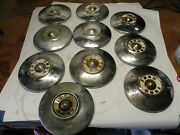 1955-56 Ford Vintage Factory Oem Dog Dish Poverty Hubcap Wheel Covers Lot Of 10