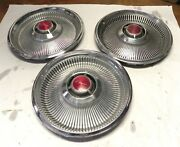 1968 Chrysler Vintage Oem 14-inch Hubcap Wheelcovers Used Nice Sold As Set Of 3