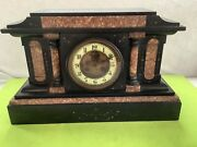 Samuel Marti Slate -verona Marble 1800andrsquos French Mantle Clock